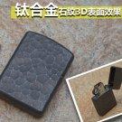 5.9*4.1cm Shield wararmor  kerosene lighter TC4 titanium Crater with original box ZPO brand sil