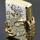 ZPO lighter Double-sided gold ice dragon wing seal chapter dragon claw BC2729