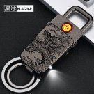 4 color  Carved  Relief  dragon Keychain Lighters Charger Multi - functional creative pendant U