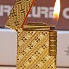 new  Old style  wheel gas lighter gold silver BC2740