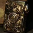 Pure copper armor Handmade skull ZPO Mechanical Gear Mechanical Power Lighter  BC2743