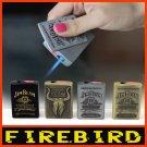 JIM BEAM Pattern Steel Jet Torch Butane Windproof Refillable Cigarette Lighter BC2761