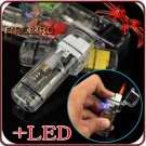 FIREBIRD Transparent Fashion Multicolor LED Waterproof Gas Butane With LED Lighter BC2763