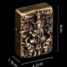 CJSG 6*4.2*1.9cm  Double head Buddha Pure brass handmade lighter brand liner double Hand-carved