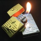 Kerosene metal gas lighter creative relief footprints flame lighters BC2852