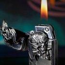 60*37*16mm new design Hand carved Retro Original punk kerosene Alien man skull head lighter  B