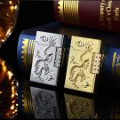 20167 Creative windproof lighter metal arc new gold embossed metal gas lighters free shipping