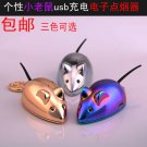 Creative personality mouse rechargeable lighter Mini Pendant Keychain lighter gift bag mail cus