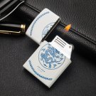 Blue and white porcelain Chinese wind wheel inflatable lighter light fire machine novelty cigar