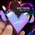 Love Charging Lighter Pulp Hearts Electricity Mixing Usi Electronic Cigarette Lighter Couple Li
