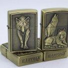 Wolf relief kerosene lighter fashion cigarette  lighter BC3573