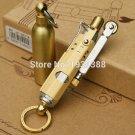 6pcs/lot Retro copper/steel metall kerosene lighter with Oil bottle,Vintage oil lighter wheel,N