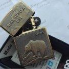 Outdoor travel wind kerosene metal lighters Golden copper lighters Bear hunting BC3711