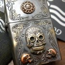 5.8*4cmZPObrand  Handmade Good Vibrations Super cool 925 sterling silver mixed copper retro sil