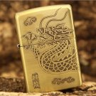 windproof lighter Pure copper winding dragon Dragon tribe The cloud dragon  BC3856
