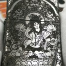 YZH wholesale  lighter brand Five-sided carved top carved Silver Armor White Degree Mother BC3857