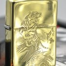 YZH  wholesale Mirror four carving tiger lighter brand gold liner  BC3860