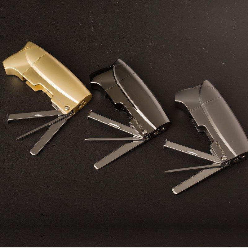 10pcs/lot  Arrive  Butane gas windproof lighter gadgets for men 4 color select high quality pla