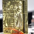 YZH Genuine Pure copper armor version  five carving Egypt  mirror gold  lighter BC3899