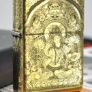 YZH Genuine Pure copper armor five carving white mother Buddha mirror gold  lighter BC3934