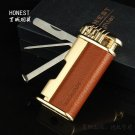 Boutique Honest windproof Smoking cigarette Portable Flame Inflatable torch lighter Jet Butane