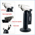 2 in 1 Cigar Cigarette Butane Lighter Gas Refillable Jet Flame Lighters Torch Tobacco Smoking L