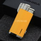 COHIBA Pocket 3 Flame Cigar Lighter Metal Windproof Torch Jet Flame Gas Refillable Cigarette Fi