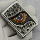 ZP wholesale 3D lighter brand Genuine Leopard eyes Posts chapter  with box  BC3991