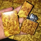 wholse 7*1.5*4.2cm Gold camphor kerosene lighters zp liner   BC4001