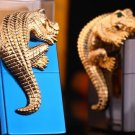 brand ZP lighter 7.8*5.6*1.3cm Black ice blue ice  Gold crocodile 3D stickers chapter  BC4025