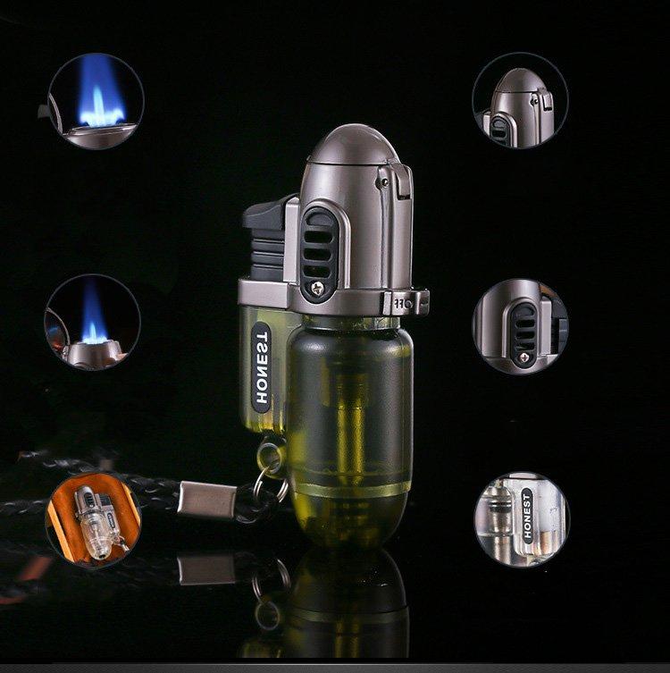 12pcs/lot 2016 butane jet Lighter inflatable windproof lighter gas  portable lighter isqueiro c