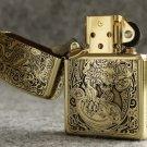 MJL wholesale Five - Face brave troops dragon  lighter brand Genuine copper gold liner   BC4091