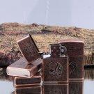 100pcs/lot oil Lighter isqueiro encendedor kerosene 4kinds chooes Windproof lighter Red copper