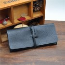 8X Black Leather Tobacco Pouch Pipe Bag Lighter Wood Pipe Metal Pipe Bag BC4231