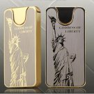 cheap Shake double sided ultra thin windproof lighters Statue of Liberty dragon electronic ciga