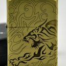 YZH wholesale  Brand  lighter Genuine Pure copper three sides etching the tiger BC4286