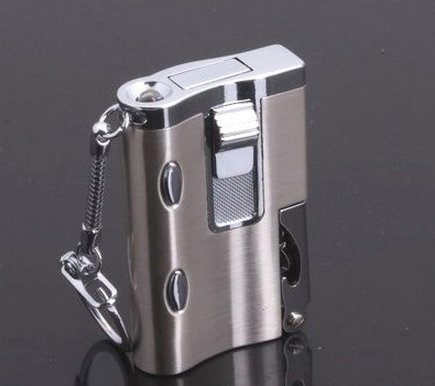 3pcs/lot Multi-functional lighters Opener key chain with lights BC4294