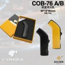Cohiba dual flam inflatable windproof cigar lighter straight double torch COB 76 BC4300