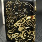HYB wholesale Double surface surrounded  brand gold tiger  Lighter  ZPO BC4307