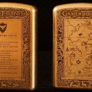 copper Brand lighter brass Shield Carved  game of Thrones  lighter overall Case cover TC4 War
