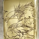 MJL Genuine windproof lighter surrounded by copper etching around  dragon BC4355