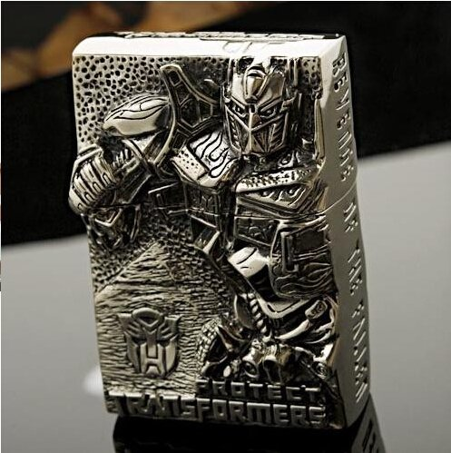 Gift! The new quality lighter Tibetan Silver DIY Transformers windproof lighter kerosene BC4429