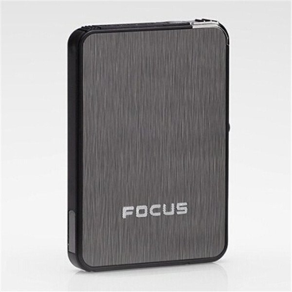 Focus Auto Cigarette Case Box Refillable Butane Fuel Lighter Cigar Tobacco Case BC4431