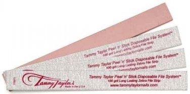Tammy Taylor Peel 'N' Stick Disposable Zebra File - 100 grit - 50 count