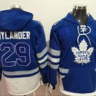 Mens Tonrto Maple Leafs #29 William Nylander Royal Blue Authentic Ice Hockey Jersey Hoodie