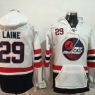 Mens WINIPEG JETS #29 LAINE WHITE Authentic Ice Hockey Jersey Hoodie