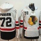 Mens Chicago Blackhawks #72 Artemi Panarin White Authentic Ice Hockey Jersey Hoodie