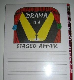 Note Book- Drama Theme
