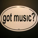 "Euro Sticker- ""Got Music"""