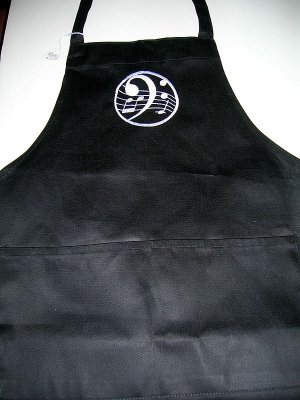 """Apron - Embroidered """"G"""" Clef"""